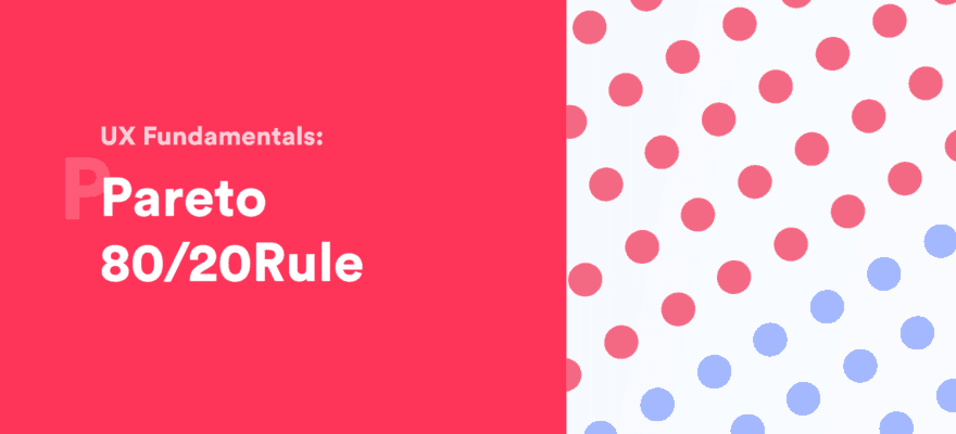 pareto principle 80/20 rule banner image