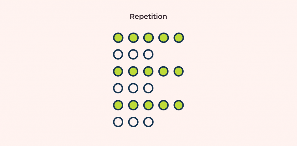 design principle: repetition and its example illustrated